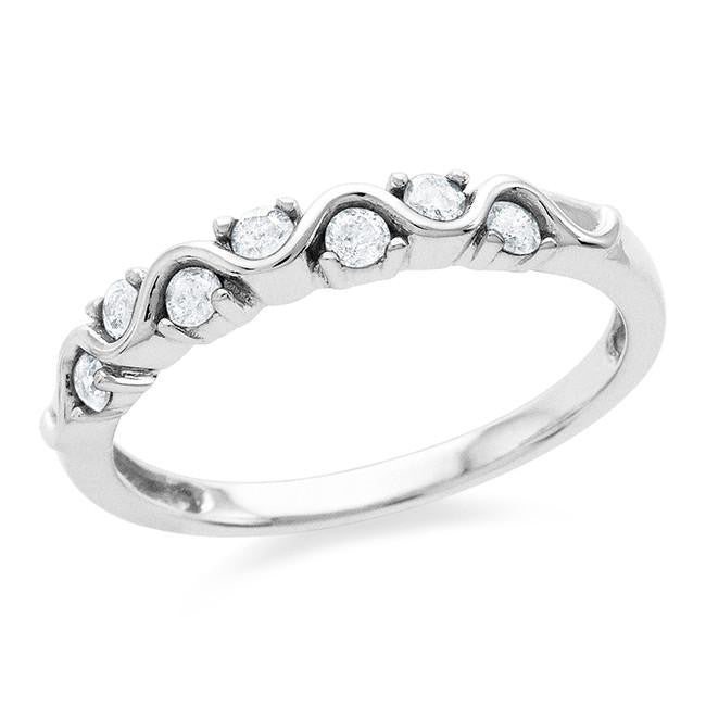 0.25 Carat Diamond Ring in 10k White Gold