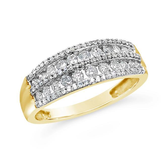 1/2 Carat Diamond Anniversary Band in 10K Yellow Gold
