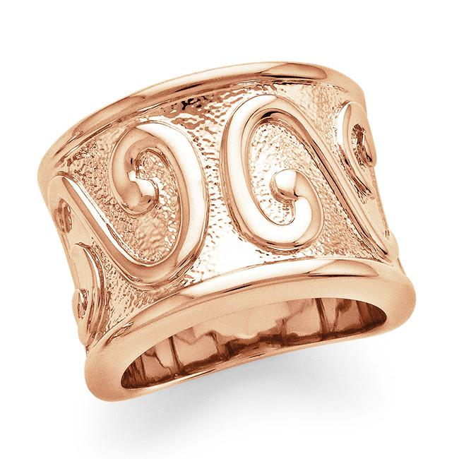 Rose Gold-Plated Fashion Ring