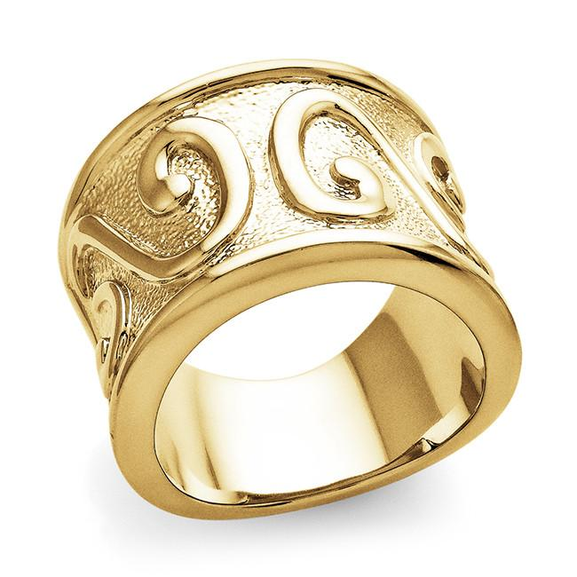 Yellow Gold-Plated Fashion Ring