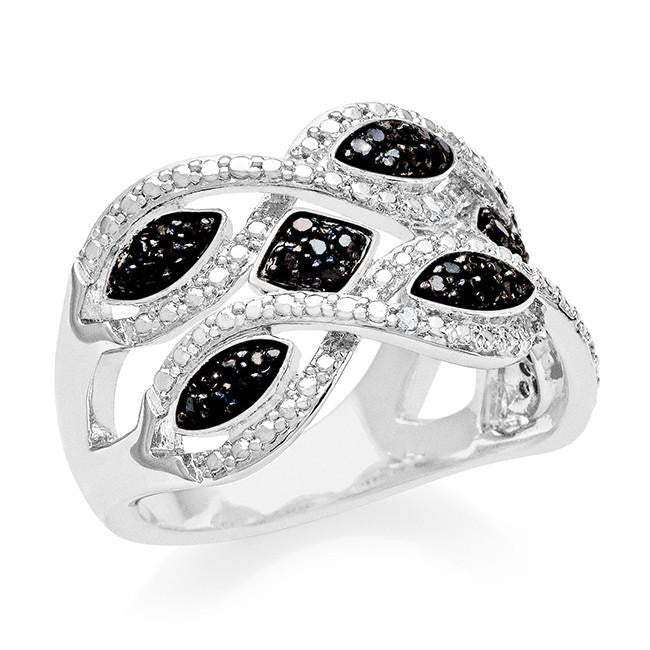 1/3 Carat Black & White Diamond Fashion Ring
