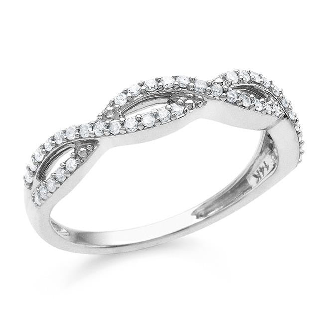 0.25 Carat Diamond Ring in Sterling Silver