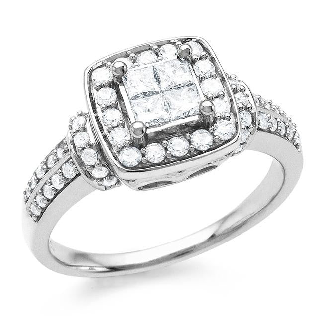 0.75 Carat Diamond Ring in Sterling Silver