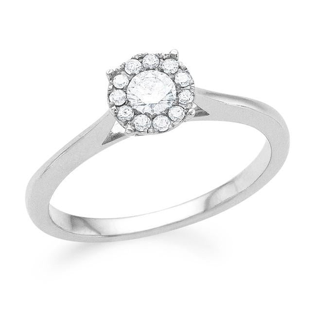 Endless Harmony: 0.25 Carat Diamond Ring in Sterling Silver