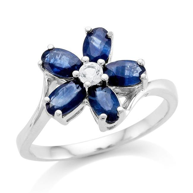 luxury men sterling ring genuine created for blue sliver sapphire