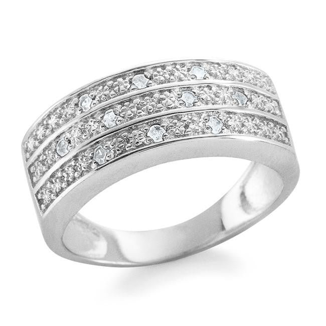 0.10 Carat Diamond Ring in Sterling Silver