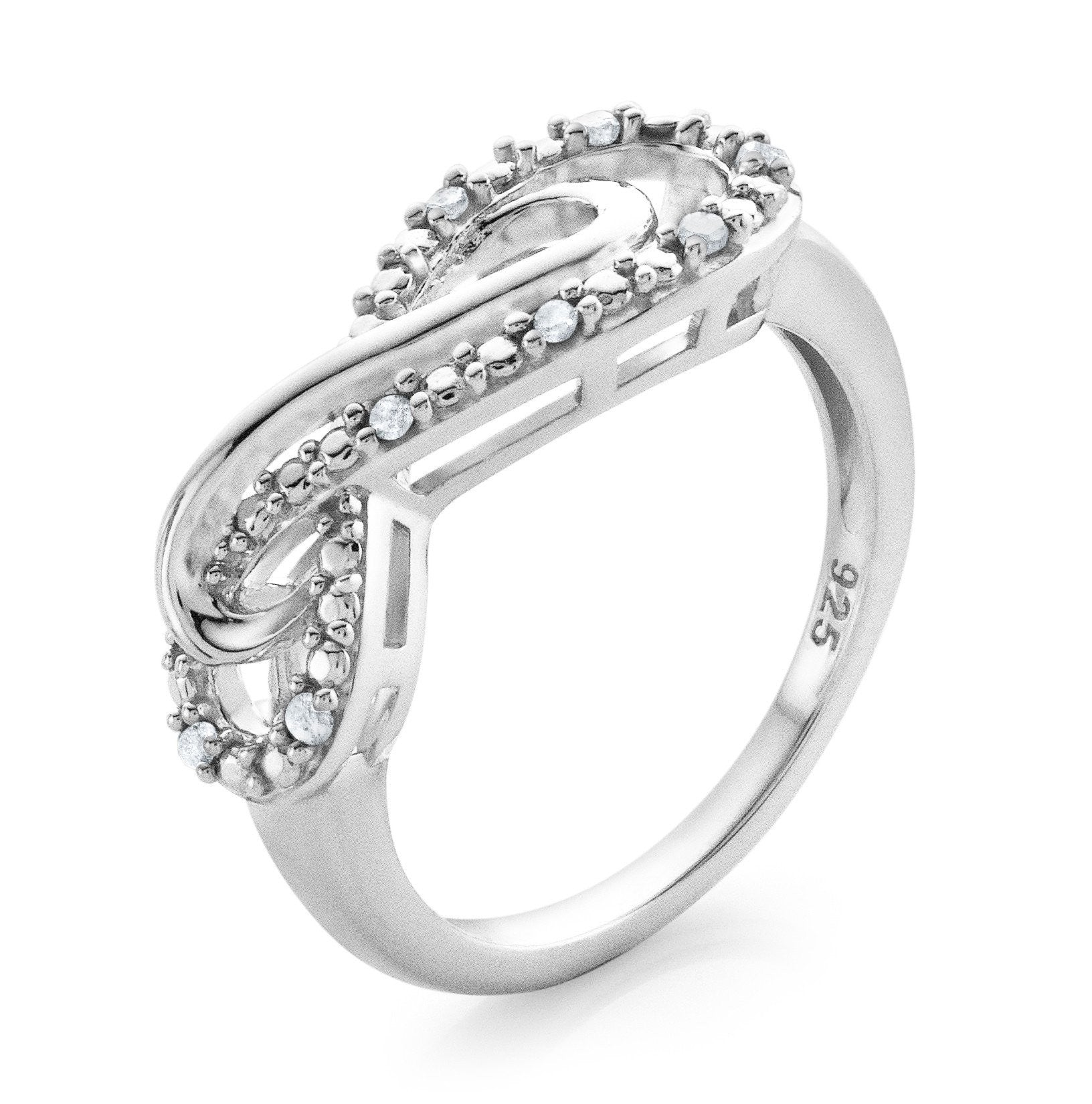 ring ribbon rose rings marquise cut in pave milgrain gold engagement infinity with shank diamond millgrained