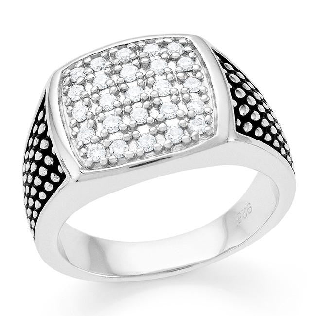 0.50 Carat Diamond Men's Ring in Sterling Silver
