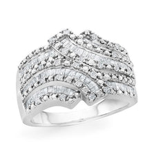 Load image into Gallery viewer, 1.00 Carat Diamond Ring in Sterling Silver