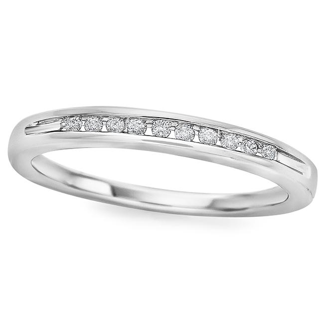Diamond Channel Set Band in Sterling Silver