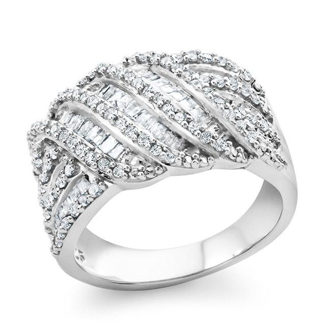 1.00 Carat Diamond Fashion Ring in Sterling Silver