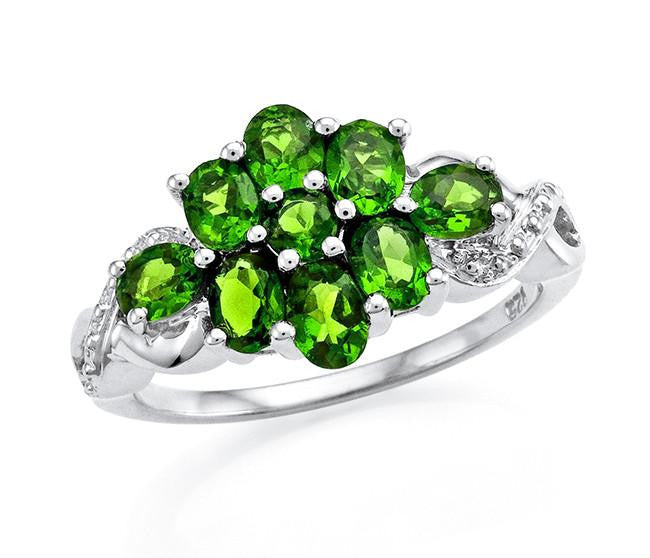 1.40 Carat Chrome Diopside Ring in Sterling Silver