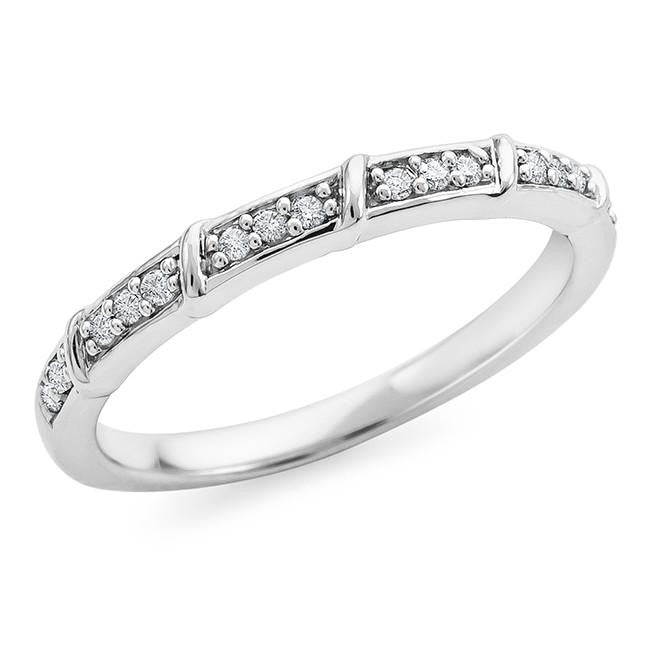 1/10 Carat Diamond Ring in Sterling Silver
