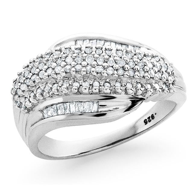 1/3 Carat Diamond Ring in Sterling Silver