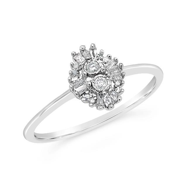 1/8 Carat Diamond Promise Ring in Sterling Silver