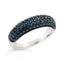 Load image into Gallery viewer, 1.00 Carat Blue Diamond Band in Sterling Silver