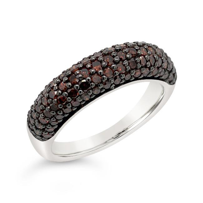 1.00 Carat Red Diamond Band in Sterling Silver