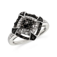 Load image into Gallery viewer, 1/6 Carat Black & White Diamond Fashion Ring in Sterling Silver