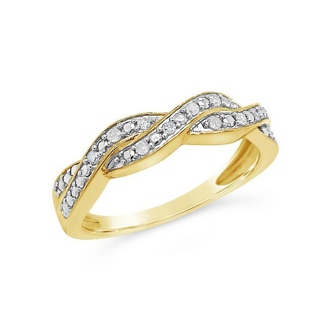 Diamond Accent Designer Band in Yellow Gold-Plated Sterling Silver