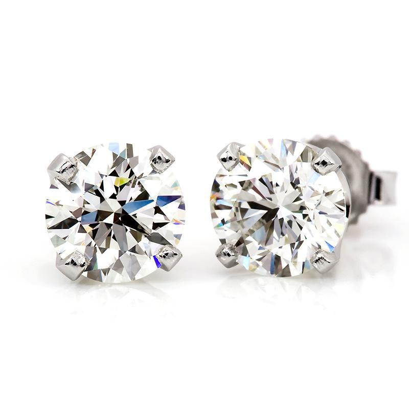 3/4 Carat Diamond Stud Earrings in 14K White Gold (G-H;I1)