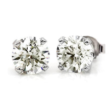Load image into Gallery viewer, 3/4 Carat (.80ctw) Diamond Stud Earrings in 10K White Gold (I-J;I2-I3)