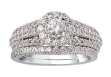 Load image into Gallery viewer, 1.25 Carat Diamond Bridal Set in 10K White Gold (G-H,SI2)