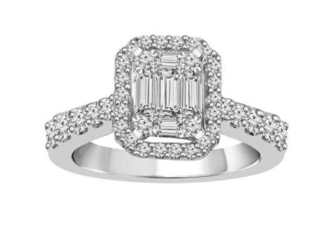 3/4 Carat Diamond Engagement Ring in 14K White Gold (G-H,SI2)