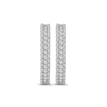 Load image into Gallery viewer, 1.25 Carat Diamond Fancy Hoop Earrings in 14K White Gold