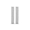 1.25 Carat Diamond Fancy Hoop Earrings in 14K White Gold