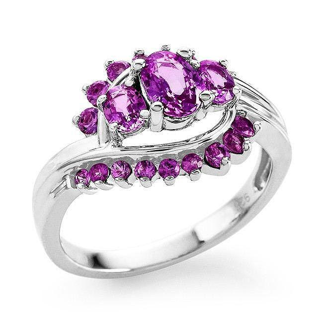 1.00 Carat tw Pink Sapphire Cocktail Ring in Sterling Silver