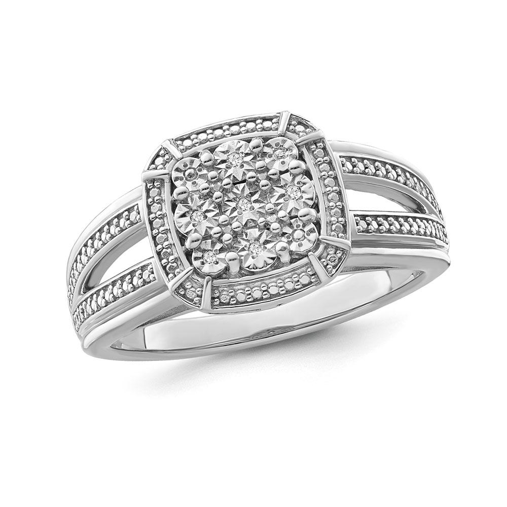 1/6 Carat Diamond Fashion Ring in Sterling Silver