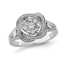 Load image into Gallery viewer, 1/5 Carat Diamond Fashion Ring in Sterling Silver
