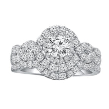 Load image into Gallery viewer, 1.75 Carat Diamond Bridal Set in 14K White Gold (H-I,SI2)