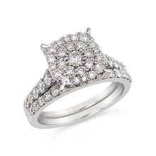 Load image into Gallery viewer, 1.00 Carat Diamond Bridal Set in 10K White Gold (H-I,I2)