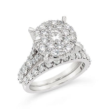 Load image into Gallery viewer, 2.00 Carat Diamond Bridal Set in 10K White Gold (G-H,I1-I2)