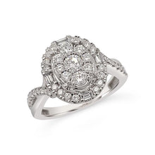 Load image into Gallery viewer, 3/4 Carat Diamond Engagement Ring in 10K White Gold (G-H,I1)