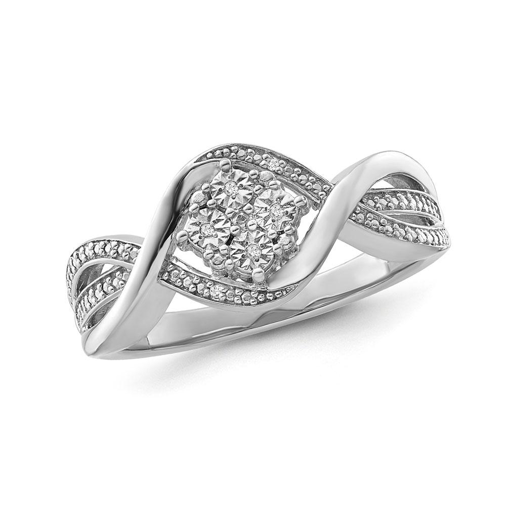 1/6 Carat Diamond Miracle Set Fashion Ring in Sterling Silver