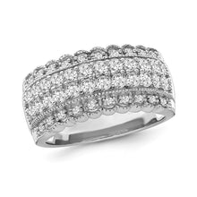 Load image into Gallery viewer, 1.00 Carat Diamond Anniversary Band in 10K White Gold