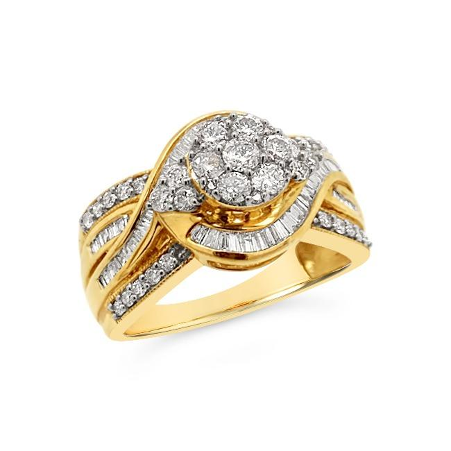 1.00 Carat Diamond Fashion Ring in 10K Yellow Gold