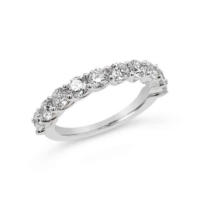 1.50 Carat Diamond Anniversary Band in 10K White Gold (GH/SI)