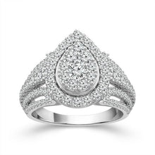 Load image into Gallery viewer, 2.00 Carat Diamond Pear-Shaped Engagement Ring in 10K White Gold (G-H,I1-I2)