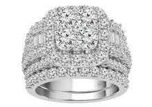 Load image into Gallery viewer, 4.00 Carat Diamond Bridal Set in 14K White Gold (G-H/I1)