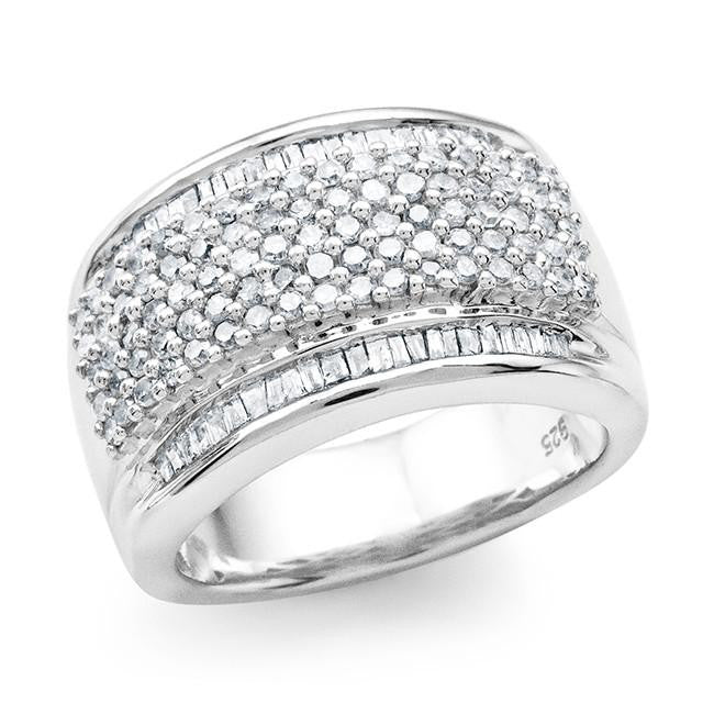 0.95 Carat Diamond Ring in Sterling Silver