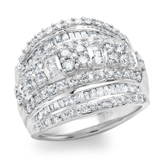 2.00 Carat Diamond Ring in Sterling Silver
