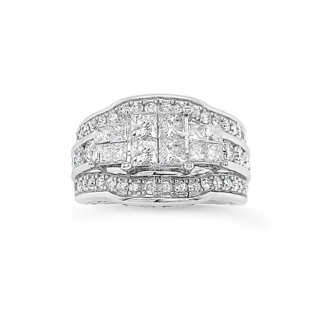 2.00 Carat Diamond Ring in 10K White Gold