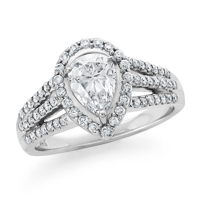1.25 Carat Diamond Engagement Ring in 14k White Gold (H-I/I2)