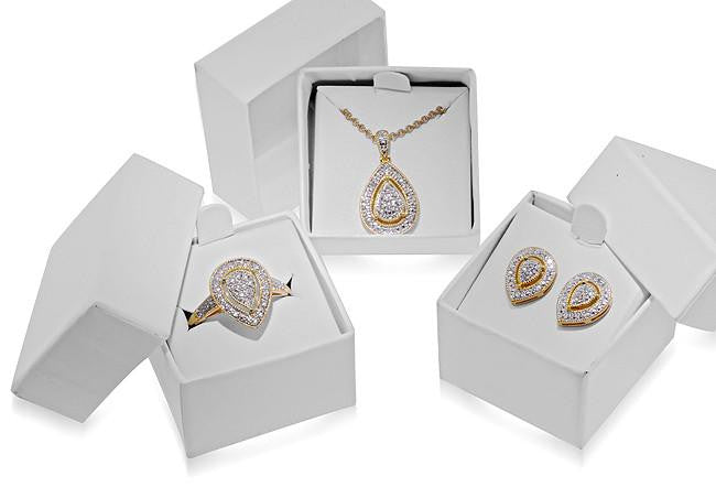 3-Piece Diamond Fashion Ring, Earring & Pendant Set