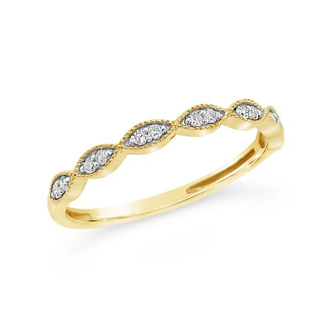 1/10 Carat Diamond Fashion Band in Yellow Gold-Plated Sterling Silver