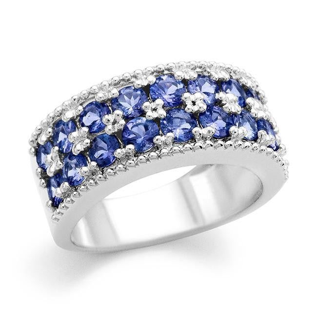 1.53 Carat tw Tanzanite Ring in Sterling Silver