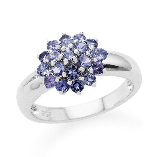 0.75 Carat Tanzanite Ring in Sterling Silver